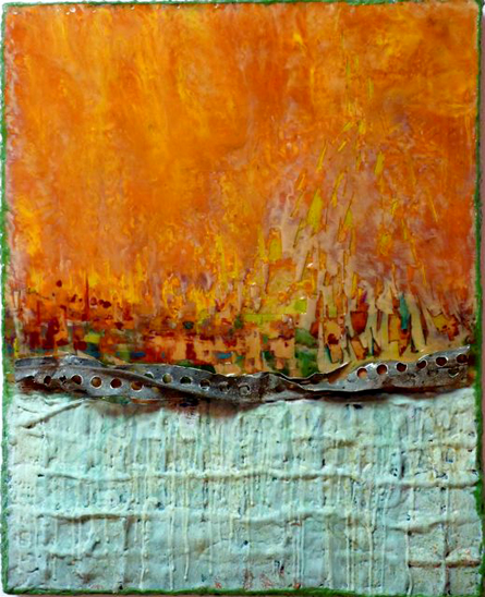 MH – The Damage Was Done – Encaustic Mix Media