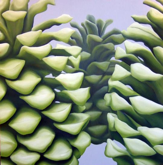 GH – Pine Cones – Acrylic on Canvas