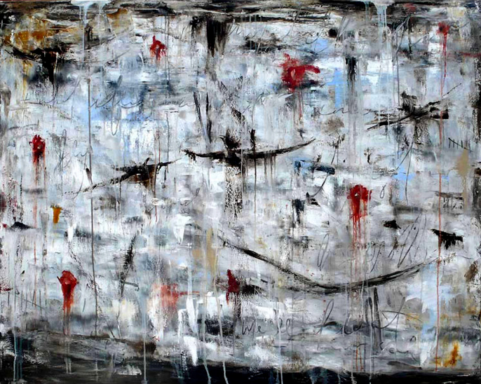 MA – Float – Wax on Canvas – 48 x 60