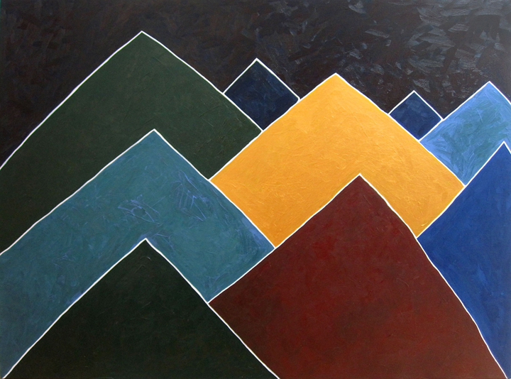 MC – Montagne – Acrylic on Canvas – 48×60