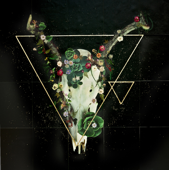 JE – Deer, Skull + Flowers